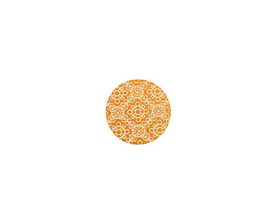 Lillypilly Orange Baroque Anodized Aluminum Disc 11mm, 24 gauge