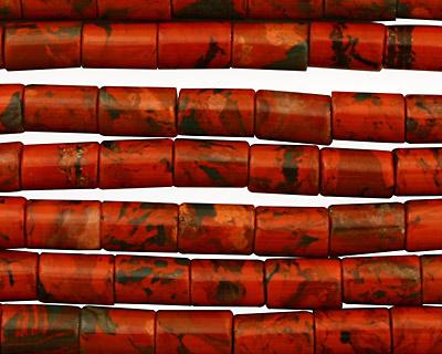 Red Jasper Tube 9x6mm