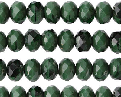 Czech Glass Emerald Isle Fire Polished Rondelle 6x8mm
