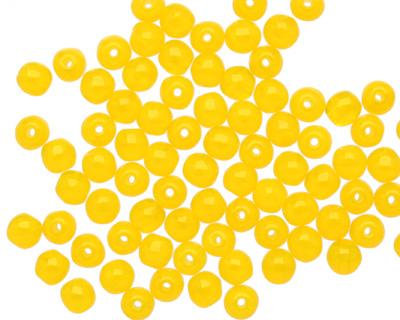 Czech Glass Milky Yellow Round 4mm