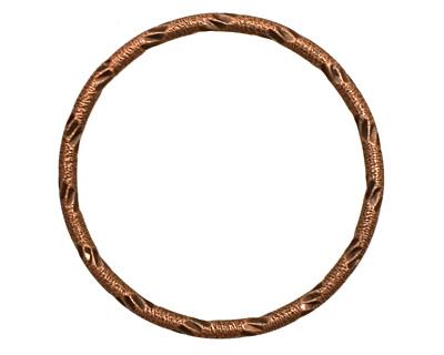 Antique Copper (plated) Embellished Ring 34mm