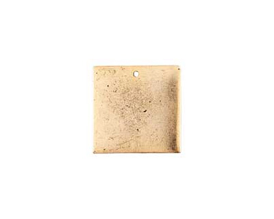 Nunn Design Antique Gold (plated) Flat Small Square Tag 23mm