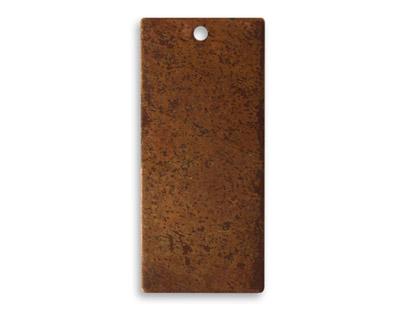 Vintaj Artisan Copper Small Rectangle Altered Blank 12x23mm