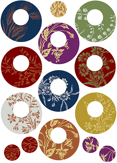 Nunn Design Floral Circle Transfer Sheet