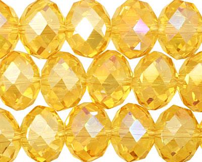Sunshine AB Crystal Faceted Rondelle 14mm