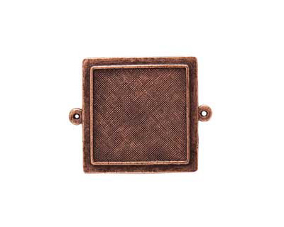 Nunn Design Antique Copper (plated) Raised Bezel Small Square Link 37x29mm