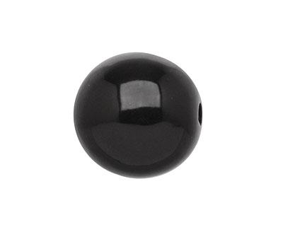 Tagua Nut Black Round 20mm