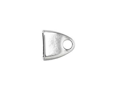 Antique Silver (plated) Triangle Loop End 13mm