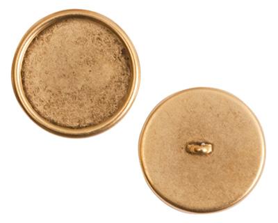 Nunn Design Antique Gold (plated) Large Circle Frame Button 21mm