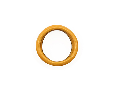 C-Koop Enameled Metal Dark Mustard Large Ring 16-17mm