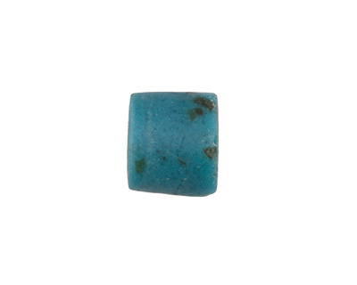 African Powder Glass Speckled Peacock Barrel 10-15x13-14mm