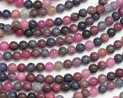 Multi Stone (Ruby & Sapphire) Round 6mm