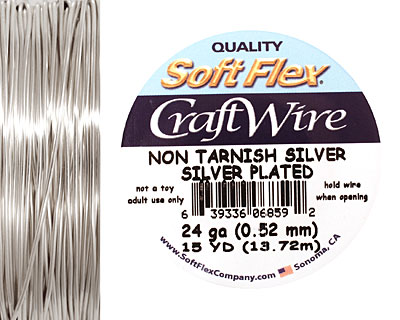 Soft Flex Non-Tarnish Silver Craft Wire 24 gauge, 15 yards
