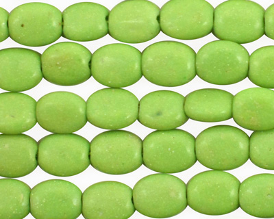 Apple Green Turquoise Flat Oval 9x7mm