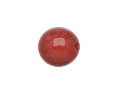 Tagua Nut Rhubarb Round 16mm