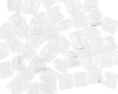 CzechMates Glass Crystal 2-Hole Tile 6mm