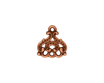 TierraCast Antique Copper (plated) Empress Chandelier 13x14mm