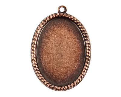 Nunn Design Antique Copper (plated) Vetri Beaded Oval Frame 23x32mm