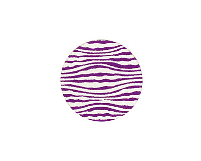 Lillypilly Purple Zebra Anodized Aluminum Disc 19mm, 24 gauge