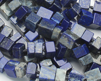 Lapis Irregular Cube 5-12x9-10mm