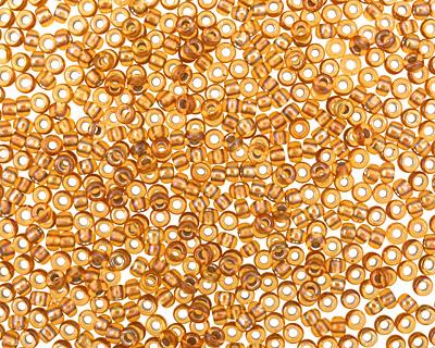 TOHO Gold Lined Rainbow Topaz Round 11/0 Seed Bead