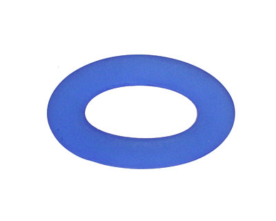 Royal Blue Recycled Glass Oval Ring 31x19mm