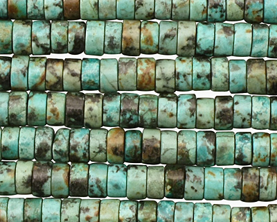 African Turquoise Heishi 6mm