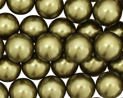 Olive Shell Pearl Round 12mm