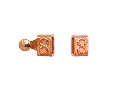 Copper (plated) Infinity Clasp 16x7mm