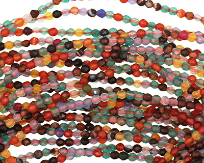 Multi Gemstone Faceted Round 2mm