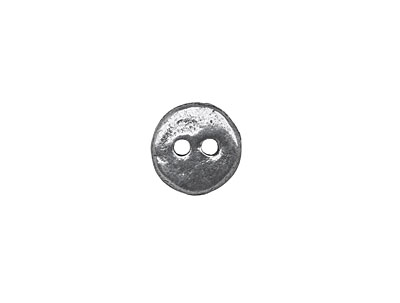 Mamacita Beadworks Pewter Plain Jane Button 12mm