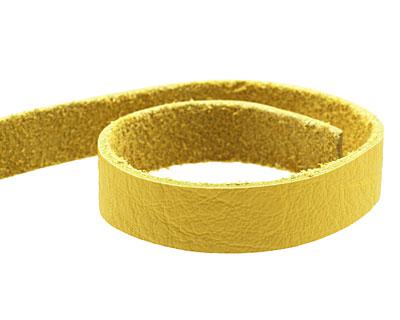 TierraCast Yellow Leather Strap 10