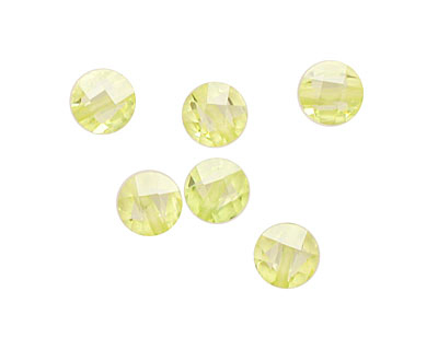 Lemon Ice Faceted Coin 6mm