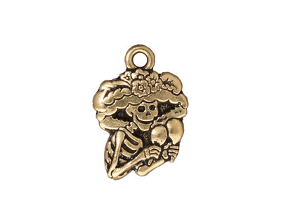 TierraCast Antique Gold (plated) Catrina 16x23mm