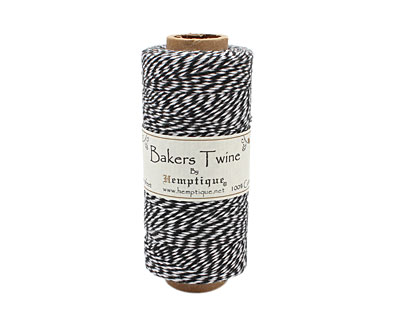 Black/White Bakers Twine 2 ply, 410 ft