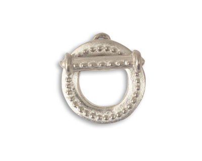 Vintaj Pewter Hobnail Toggle Clasp Set 19mm, 19mm bar