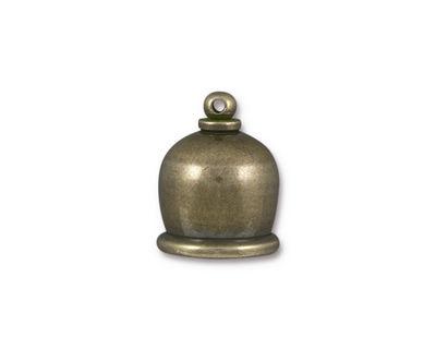 TierraCast Antique Brass (plated) Taj 10mm Cord End 17x13mm