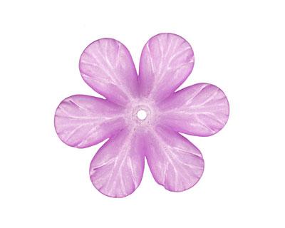 Lucite Violet Clematis Flower 8x30mm