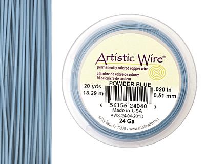 Artistic Wire Powder Blue 24 gauge, 20 yards