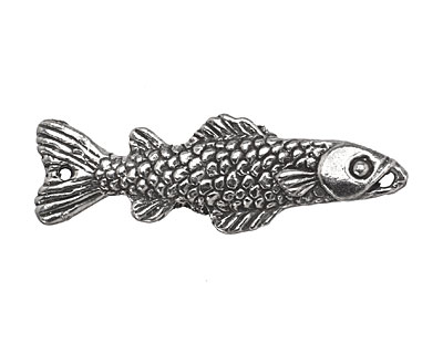 Green Girl Pewter Fish Link 42x14mm
