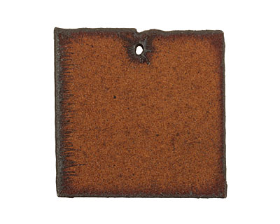 The Lipstick Ranch Rusted Iron Square Blank Pendant 39mm