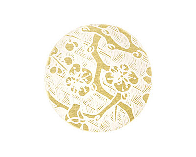 Lillypilly Gold Cherry Blossom Anodized Aluminum Disc 25mm, 22 gauge