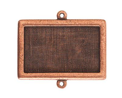 Nunn Design Antique Copper (plated) Horizontal Rectangle Framed Pendant Link 37x25mm