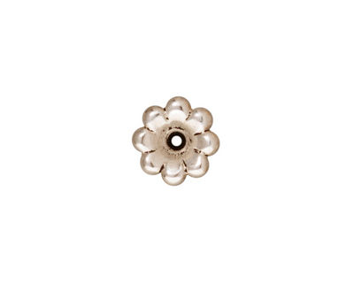 TierraCast Antique Silver (plated) Scalloped Bead Cap 5x11mm