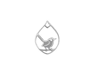 Amoracast Sterling Silver Wren Drop 12x16mm