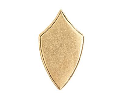 Nunn Design Antique Gold (plated) Crest Regiment Tag 16x29mm