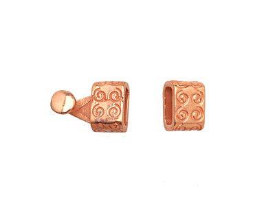 Copper (plated) Spiral Clasp 16x7mm