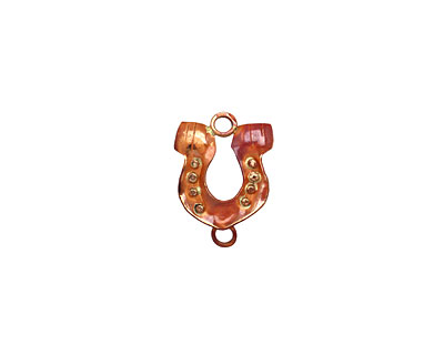 Patricia Healey Copper Nailed Horseshoe Link 20x26mm