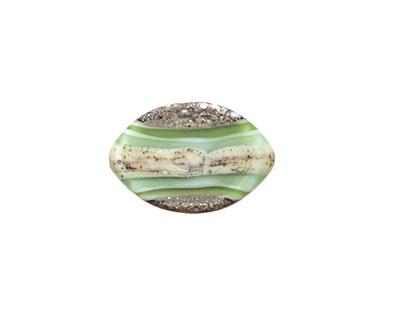 A Beaded Gift Silvered Grass Layers Zulu 13x19mm