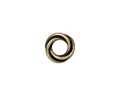 TierraCast Antique Brass (plated) Twisted Spacer 2x12mm